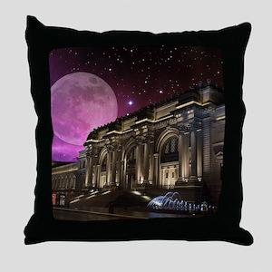 Spacey Metropolitan Museum Throw Pillow