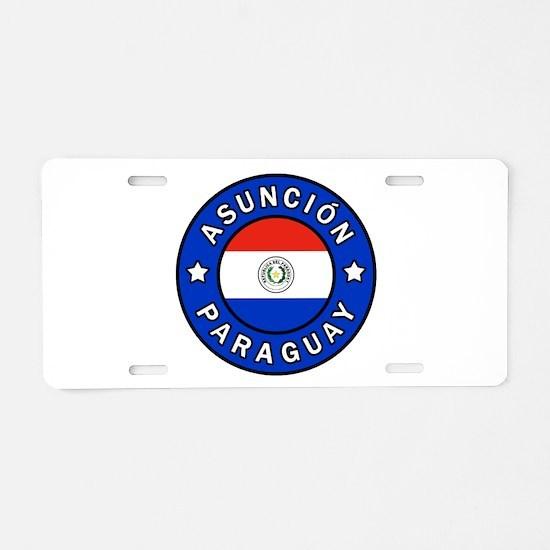 Asuncion Paraguay Aluminum License Plate