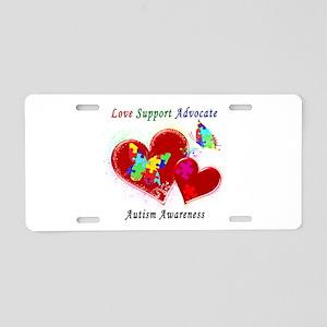 Autism Butterflies in Heart Aluminum License Plate