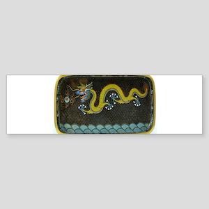 BRONZE_ENAMEL_DRAGON_Ancient_Chines Bumper Sticker