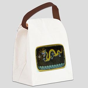BRONZE_ENAMEL_DRAGON_Ancient_Chin Canvas Lunch Bag
