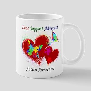 Autism Butterflies in Hearts Mug