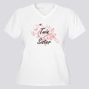 Twin Sister Artistic Design with Plus Size T-Shirt