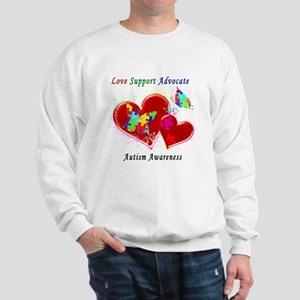 Autism Butterflies in Hearts Sweatshirt