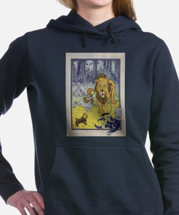 Cowardly_Lion_from_Dorot Women's Hooded Sweatshirt
