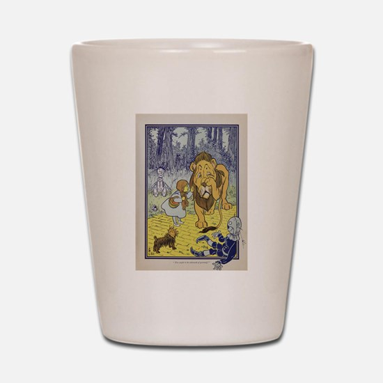 Cowardly_Lion_from_Dorothy_Wizard_of_Oz Shot Glass