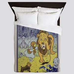 Cowardly_Lion_from_Dorothy_Wizard_of_O Queen Duvet