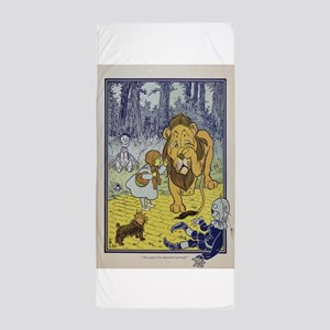 Cowardly_Lion_from_Dorothy_Wizard_of_O Beach Towel