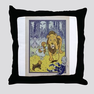 Cowardly_Lion_from_Dorothy_Wizard_of_ Throw Pillow