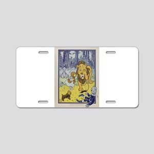 Cowardly_Lion_from_Dorothy_ Aluminum License Plate