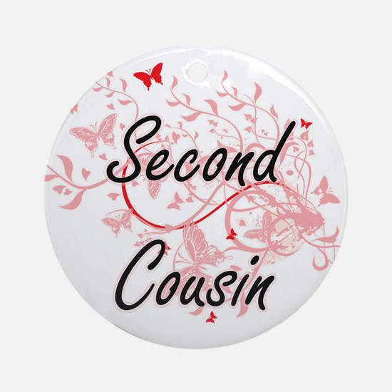 Second Cousin Artistic Design with Round Ornament