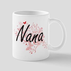 Nana Artistic Design with Butterflies Mugs