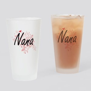 Nana Artistic Design with Butterfli Drinking Glass