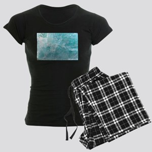 Blue-Agate-Art-Design Women's Dark Pajamas