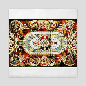 Regal-Splendor-Stained-Glass-Design Queen Duvet