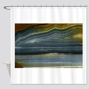 Agate-Blue-Horz-Crystal_Design Shower Curtain
