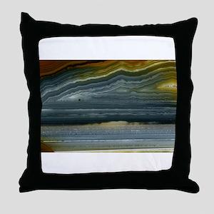 Agate-Blue-Horz-Crystal_Design Throw Pillow