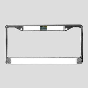 Agate-Blue-Horz-Crystal_Design License Plate Frame