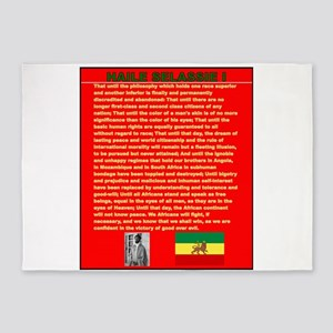 Selassie Speech to U N 1963 War Spe 5'x7'Area Rug