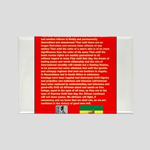 Selassie Speech to U N 1963 War Speech Magnets