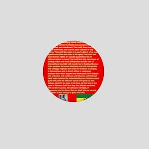 Selassie Speech to U N 1963 War Speech Mini Button
