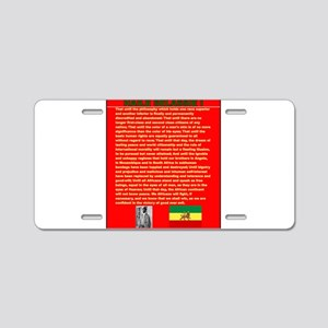 Selassie Speech to U N 1963 Aluminum License Plate