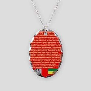 Selassie Speech to U N 1963 Wa Necklace Oval Charm