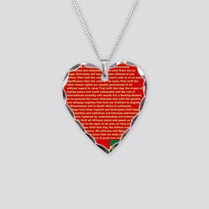 Selassie Speech to U N 1963 W Necklace Heart Charm