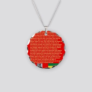 Selassie Speech to U N 1963 Necklace Circle Charm
