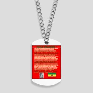 Selassie Speech to U N 1963 War Speech Dog Tags
