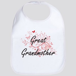 Great Grandmother Artistic Design with Butterf Bib