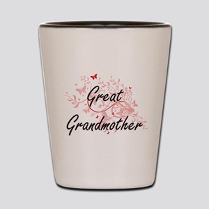 Great Grandmother Artistic Design with Shot Glass