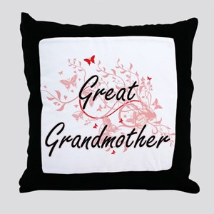 Great Grandmother Artistic Design wit Throw Pillow