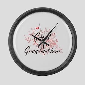 Great Grandmother Artistic Design Large Wall Clock