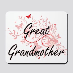 Great Grandmother Artistic Design with B Mousepad