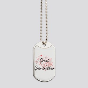 Great Grandmother Artistic Design with Bu Dog Tags