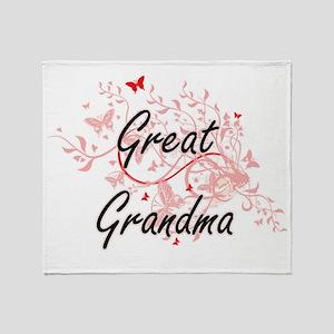 Great Grandma Artistic Design with B Throw Blanket