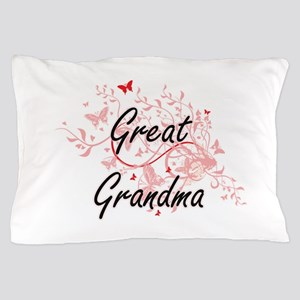 Great Grandma Artistic Design with But Pillow Case