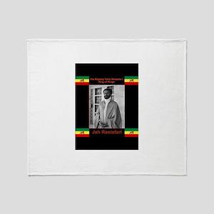 Haile-Selassie-Jah_Rastafari Throw Blanket