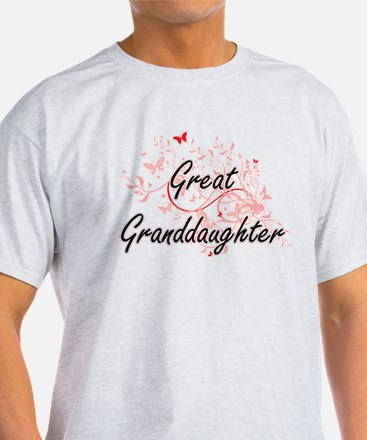 Great Granddaughter Artistic Design with B T-Shirt