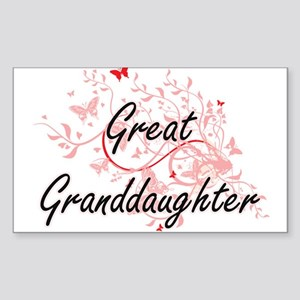 Great Granddaughter Artistic Design with B Sticker