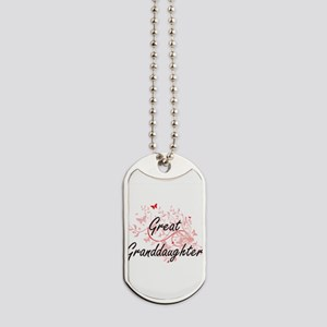 Great Granddaughter Artistic Design with Dog Tags