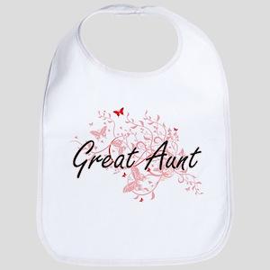 Great Aunt Artistic Design with Butterflies Bib
