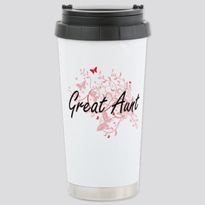 Great Aunt Artistic Des Stainless Steel Travel Mug