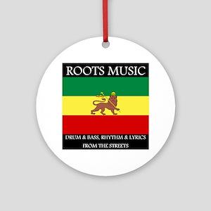 Roots-Music-Flag-Ethiopia Round Ornament