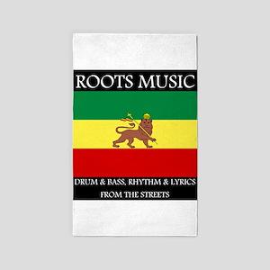 Roots-Music-Flag-Ethiopia Area Rug