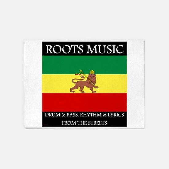 Roots-Music-Flag-Ethiopia 5'x7'Area Rug