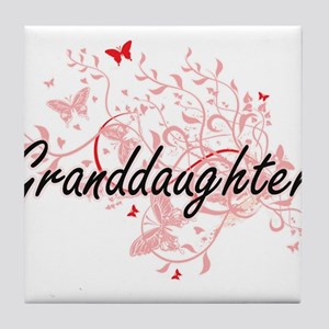 Granddaughter Artistic Design with Bu Tile Coaster