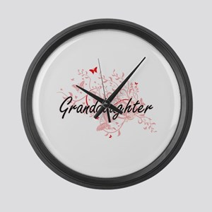 Granddaughter Artistic Design wit Large Wall Clock