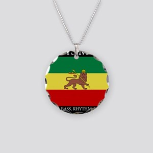 Roots-Music-Flag-Ethiopia Necklace Circle Charm